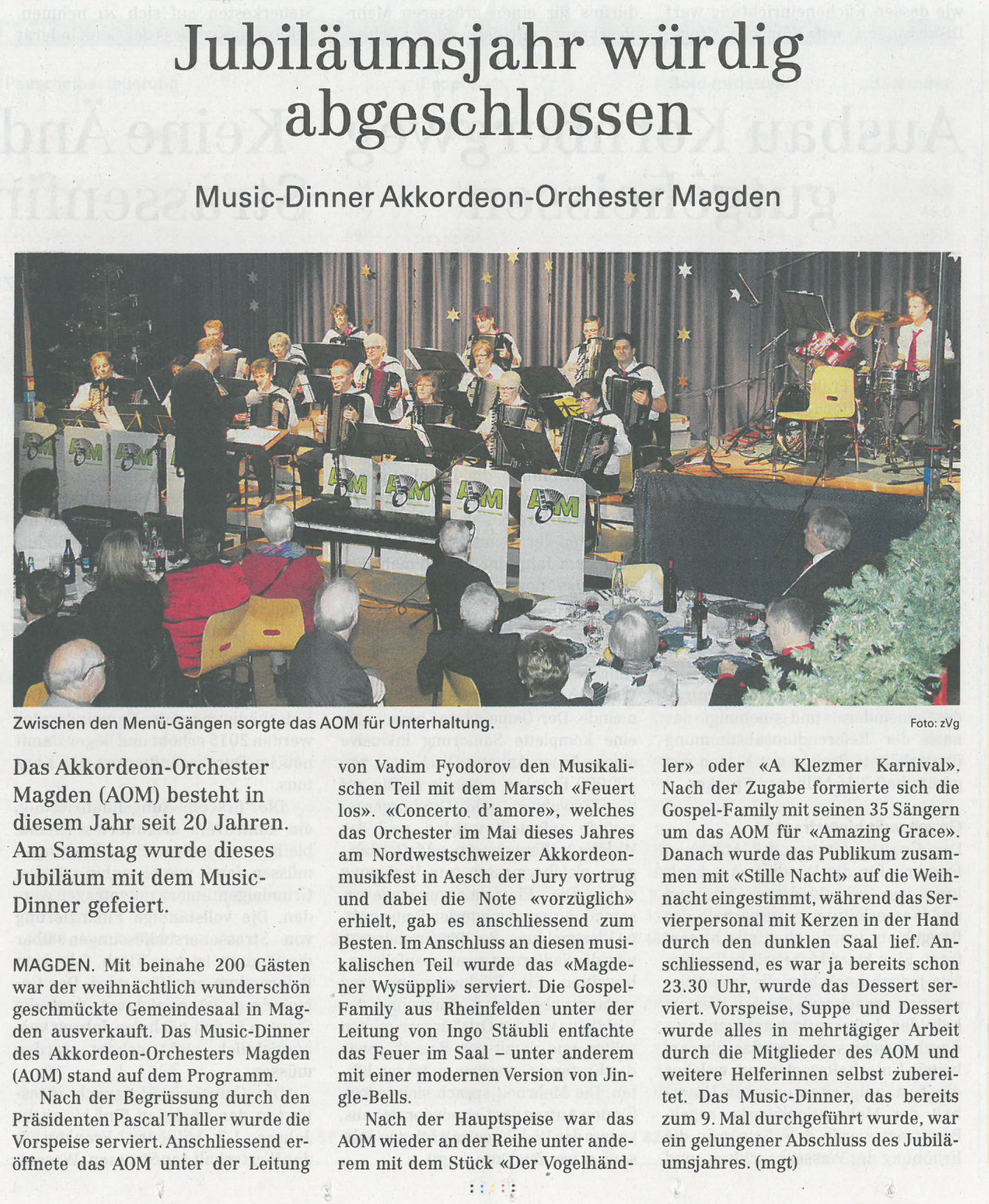 Artikel NFZ Music-Dinner 2014